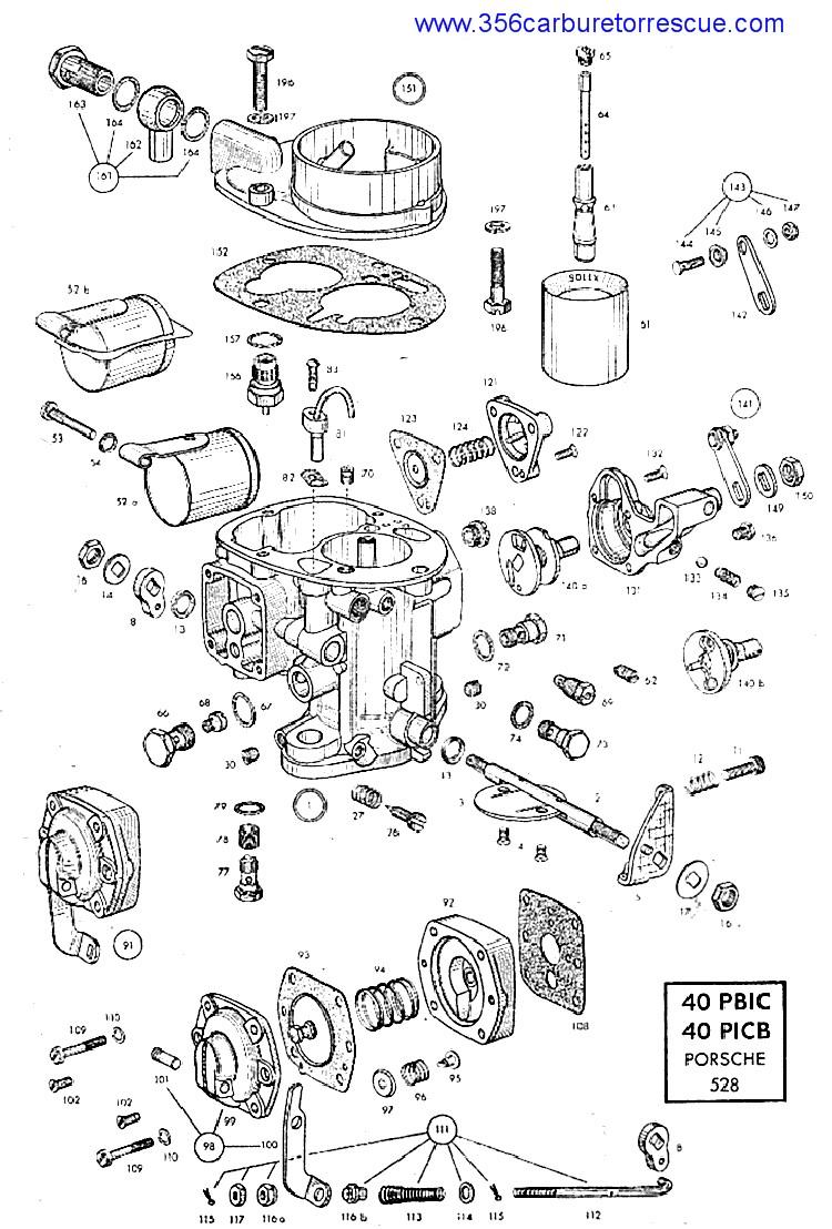 Ajuste de Motor: Despiece Carburador Solex 40 PICB-PBIC